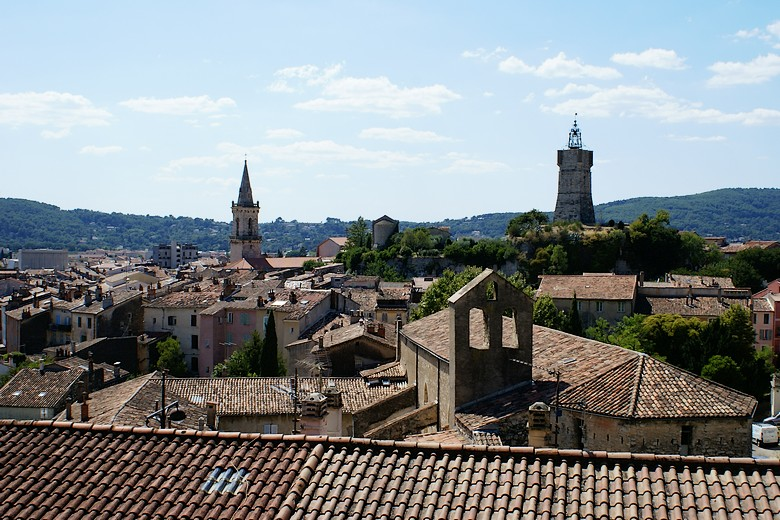 Draguignan (Var) - Point de vue sur l'ensemble du centre-ville